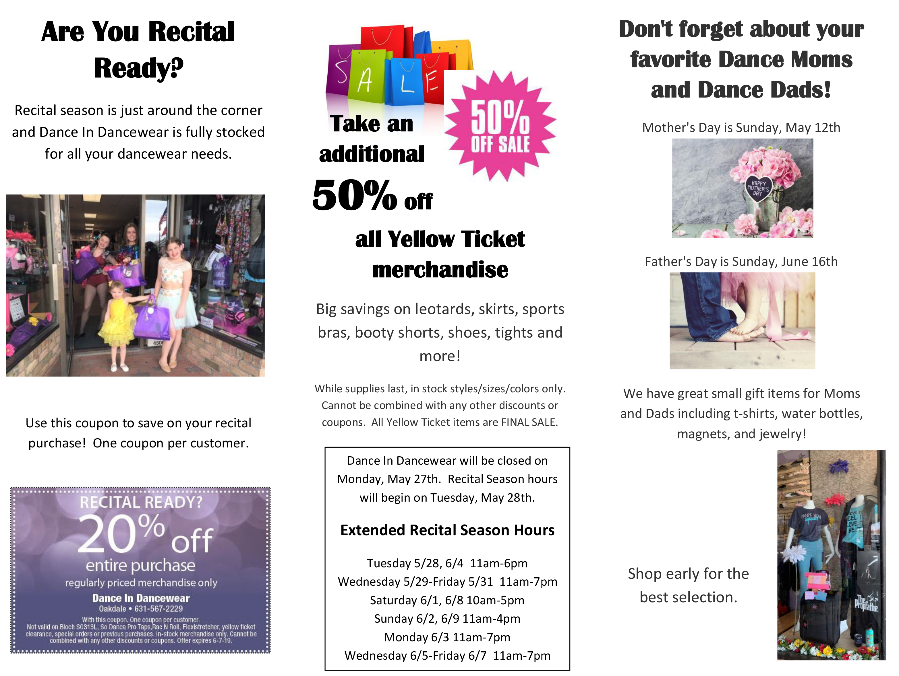 Current Specials layout May 2019